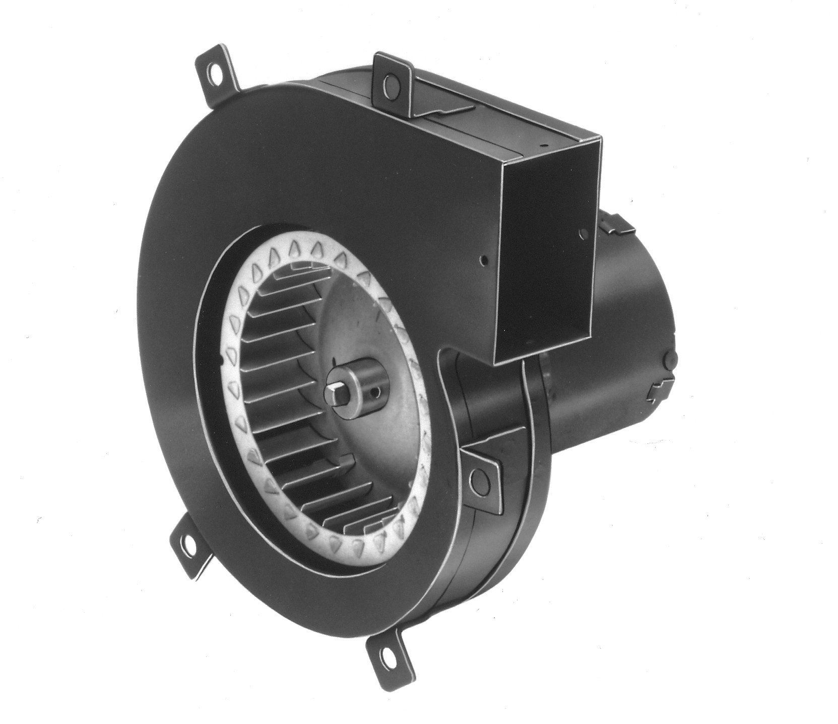 Fasco A064 3.3'' Frame Shaded Pole OEM Replacement Specific Purpose Blower with Sleeve Bearing, 1/55HP, 3,150 rpm, 115V, 60 Hz, 0.7 amps