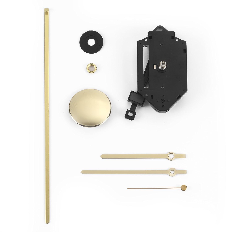 Clock-it Meccanismo Pendolo Di Qualità perno Medio 16mm, Lancette Metallo Dorate. Azienda italiana specializzata. Solo Ora shop