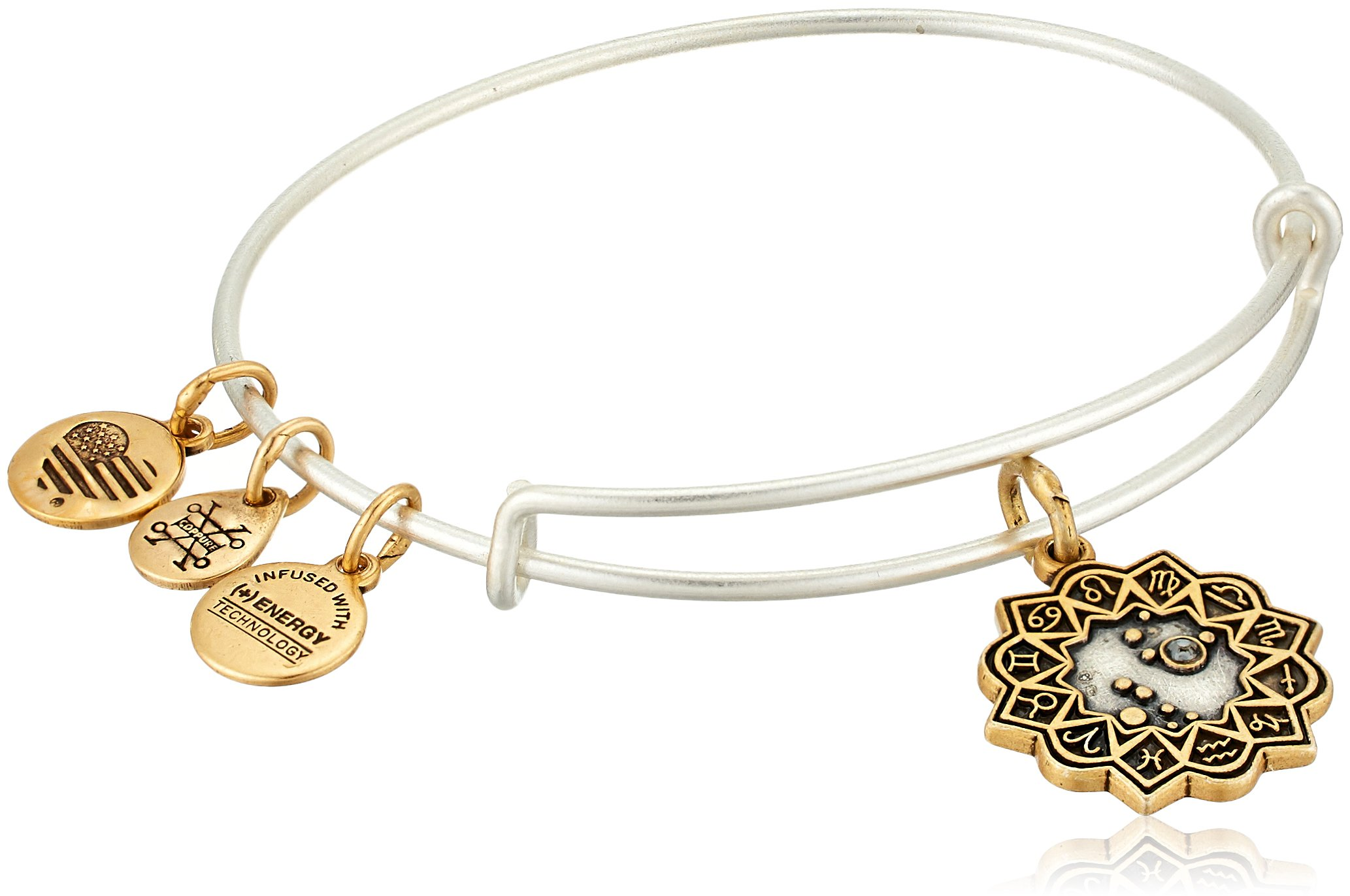 Alex and Ani Women's Leo Two Tone Bangle Bracelet