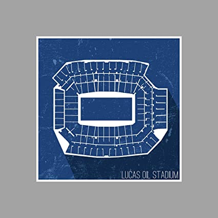 Amazoncom Artsycanvas Lucas Oil Stadium Football Seating