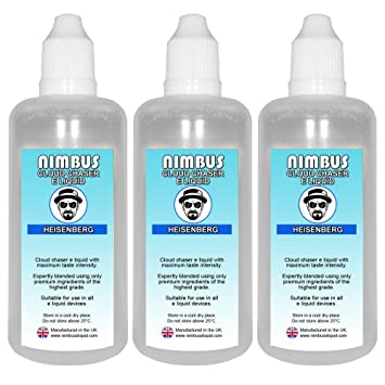 Triple Pack - 3x 100ml Heisenberg E Liquid 80/20 Cloud Chaser Vape Juice  Sub Ohm Juice Shisha Vape Liquid 0mg eJuice E Cigarette Liquid No Nicotine