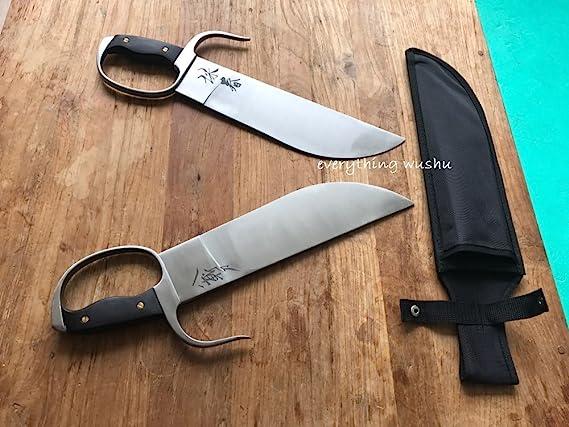 Amazon.com: Wing Chun espadas de mariposa Bart Cham Dao Wing ...