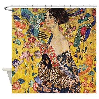 Amazon CafePress Gustav Klimt Lady With Fan Shower Curtain