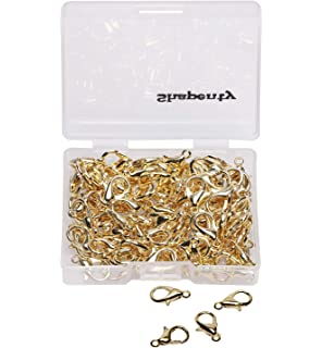 200 Lobster Clasps 14X7 SILVER Plated Claw Jewelry Making Findings 14Mm//200 Pcs.