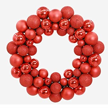 Christmas Ball Garland.Hot Sale Clearance Todaies Christmas 55 Balls Wreath Door Wall Ornament Garland