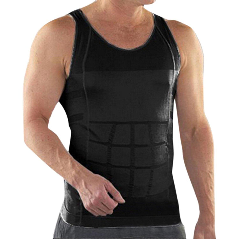 Men's Compression Undershirt Shirt Vest Tank Top Slim Body Shaper