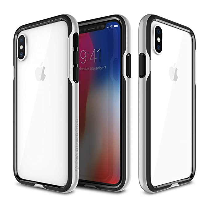 separation shoes df141 60abd PATCHWORKS iPhone X, XS Case for Apple iPhone X, XS, [Level Silhouette  Series] Lightweight Raised Lip [TPU + PC] [Mililtary Drop Test Certified],  ...
