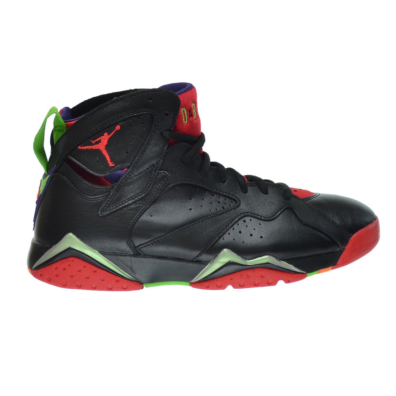 Nike Herren Air Jordan 7 Retro Turnschuhe, Schwarz, 48.5 EU  8|Black , Green Pulse-cool Grey-university Red