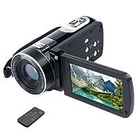 Videocamera Digital Camera FHD 1080p 24MP Videocamera 18X Zoom digitale Fotocamera digitale Schermo LCD da 2,7 pollici Fotocamera per il viso di bellezza con telecomando