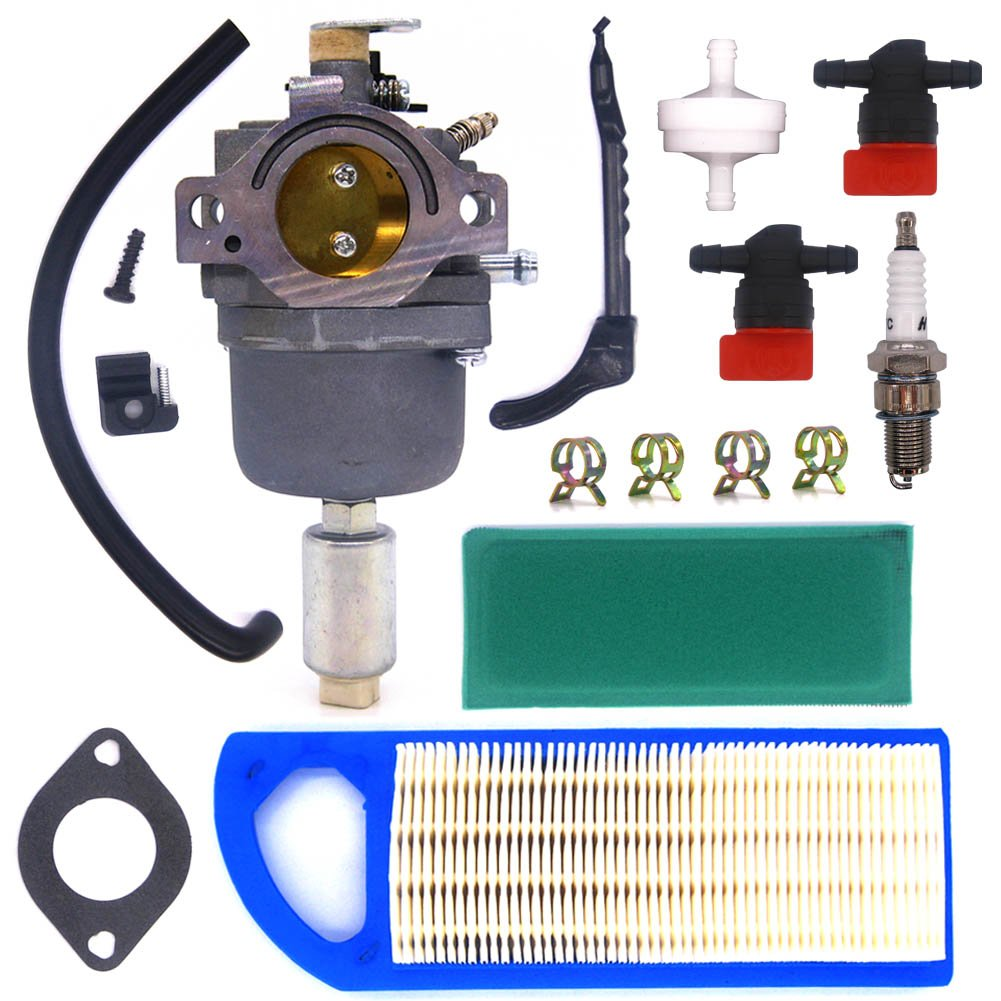 NIMTEK 794572 Carburetor Tune-up Kit with Air Filter For Briggs & Stratton 791858 791888 792358 793224 697190 697141 698445