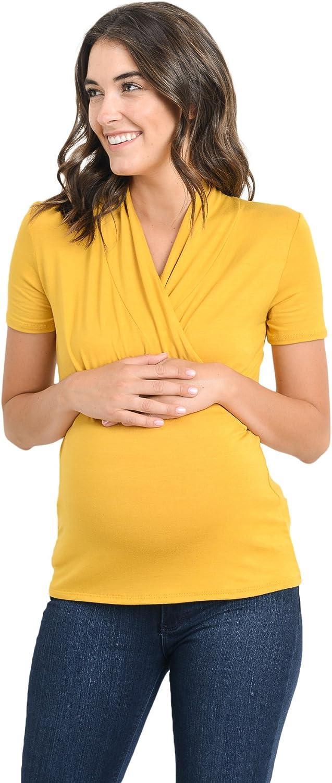 LaClef Schwangerschaftsoberteil f/ür Frauen