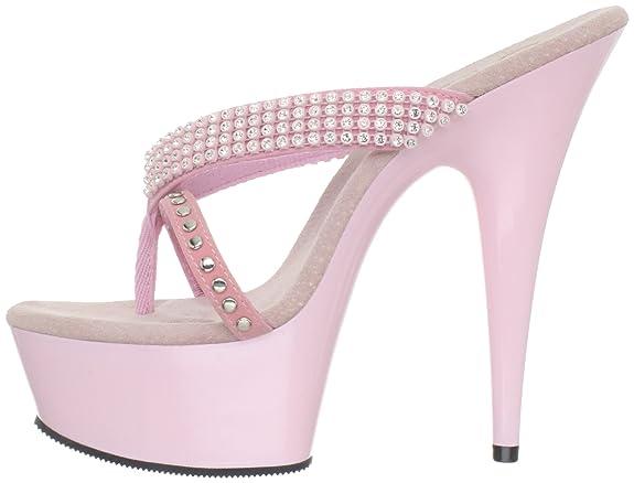 Pleaser Plateau Pantolette DELIGHT-603-1 - Baby Pink 36 EU yktNxJo19B