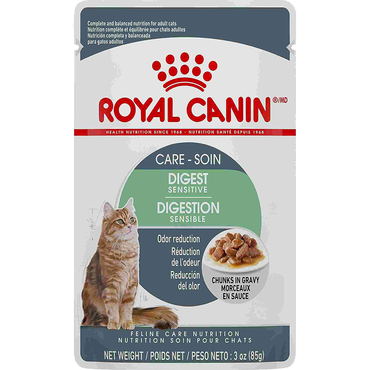 Royal Canin Digest Sensitive Chunks in Gravy Adult Wet Cat Food Pouch