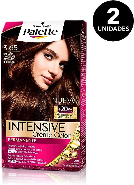 Palette Intense - Tono 3.65 Castaño Medio Chocolate - 2 uds - Coloración Permanente - Schwarzkopf