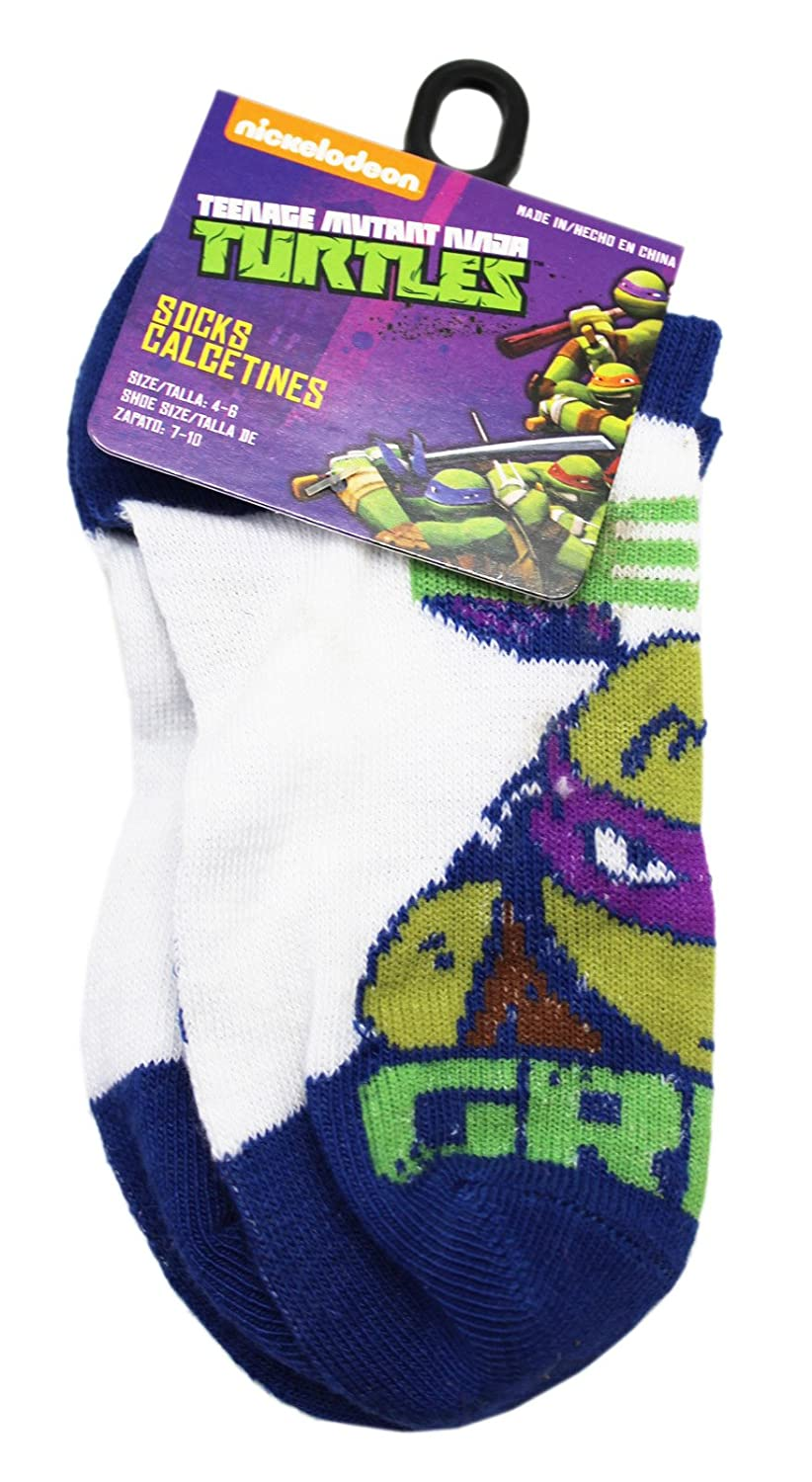 Amazon.com: Teenage Mutant Ninja Turtles Donatello Blue/White Socks (1 Pair, Size 4-6): Clothing