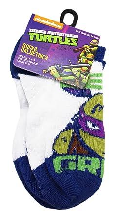 Teenage Mutant Ninja Turtles Donatello Blue/White Socks (1 Pair, Size 4-