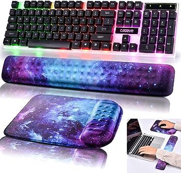 Reposamuñecas con teclado y alfombrilla para ratón Juego de ...