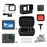 Deyard 25 in 1 Accessory Kit with Shockproof Small Case Bundle for GoPro Hero 6 Hero 5 Action Camera