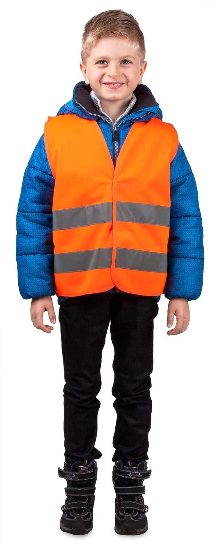 Walser 43971 Gilet di sicurezza misura XS per bambini 3-6 anni giallo