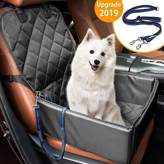 Hunde Autositz MATCC Wasserdicht Autositzbezug Hundeautositz Vordersitz mit Extra Hunde Sicherheitsgurt Sitzbezug Autoschutzd