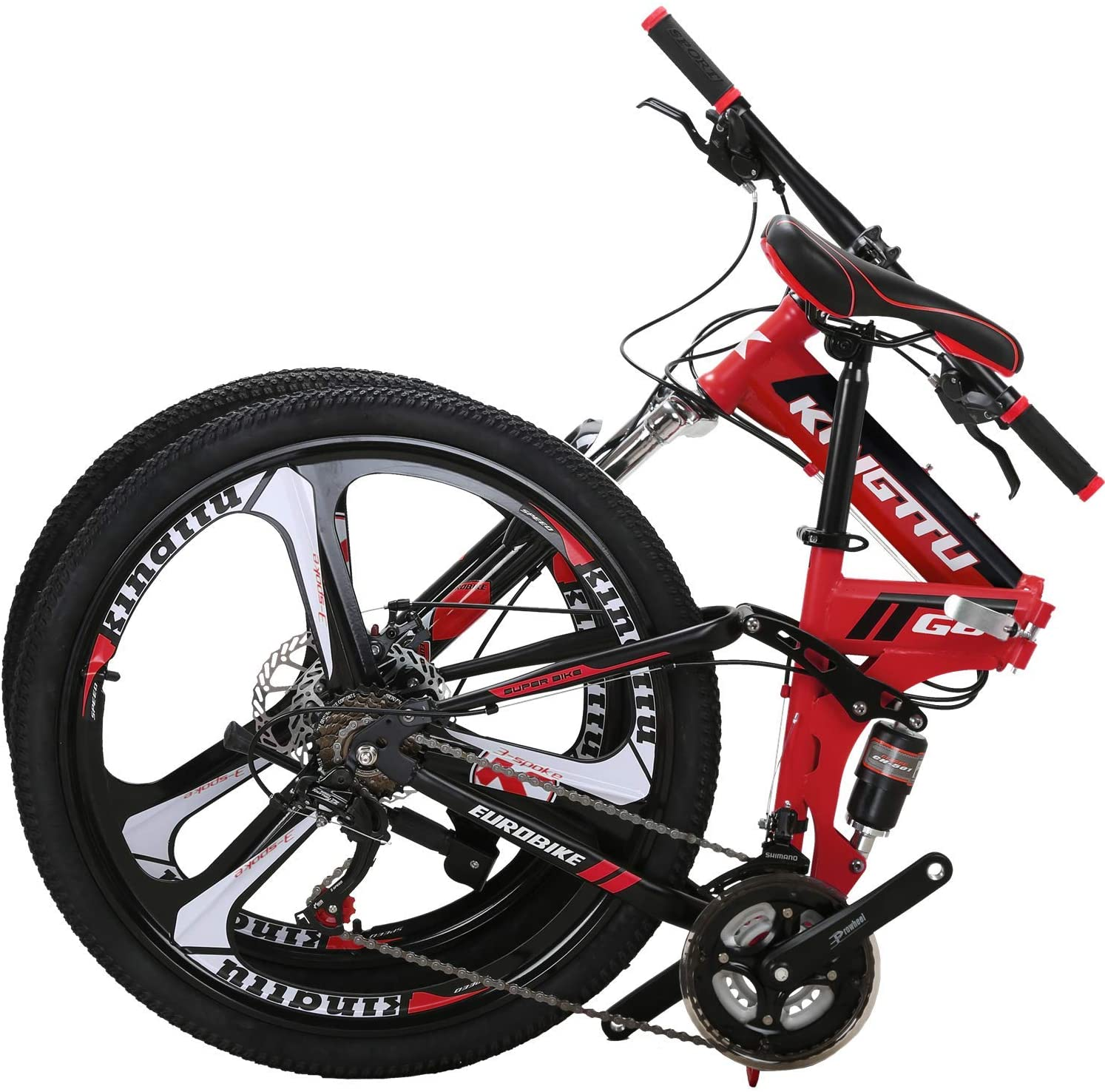 "OBK G4/G6 26"" Full Suspension Folding Mountain Bike"