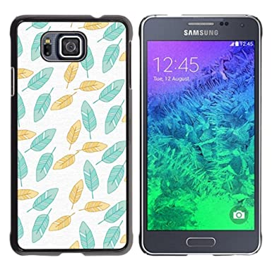 Case699 Hard Protective Case Cover Painted Teal Wallpaper Green Samsung GALAXY ALPHA G850