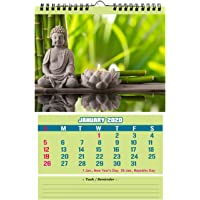 Accuprints Buddha wall 2020 Calendar for wall for motivational motivation 2020 Planner office home table new year hanging kids all year students school gift girls room living room india planning new marking quotes