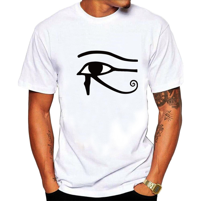 a79e4b38a20 Amazon.com  Men s Egyptian Eye Of Horus Or Ra T-shirts L Black  Clothing
