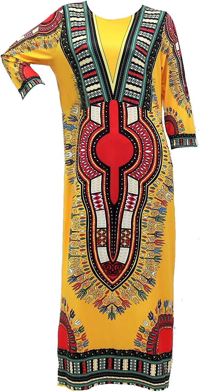 Riviera Sun African Print Dashiki Dress for Women