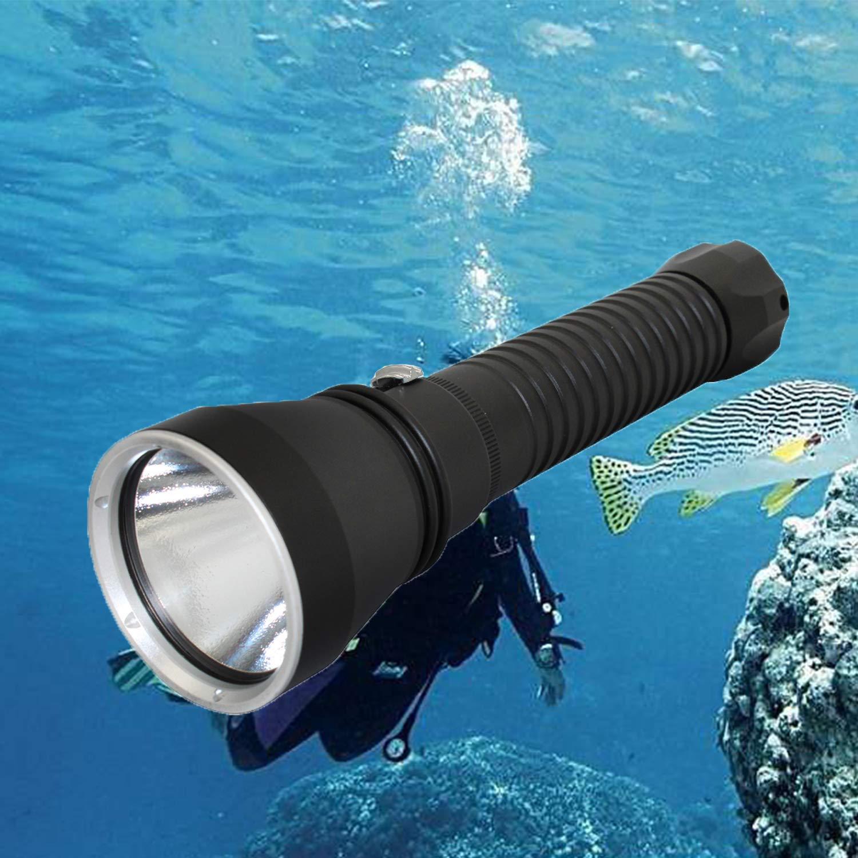 Linterna táctica, KC fuego 4000lúmenes XHP70LED Ultra brillante lámpara de mano de buceo para buceo, snorkeling, piragüismo, pesca, camping, caza, senderismo, ciclismo, XHP70 Light KC Fire