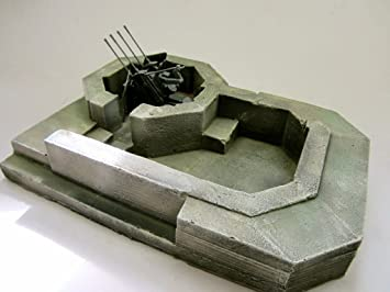 1/35 Scale WW2 German Flak / Anti aircraft bunker: Amazon co