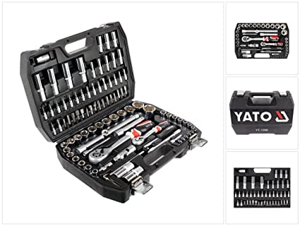 45c0fe7376f Image Unavailable. Image not available for. Colour  Yato YT-1268 – 94-Piece  1 2 Inch Tool Kit