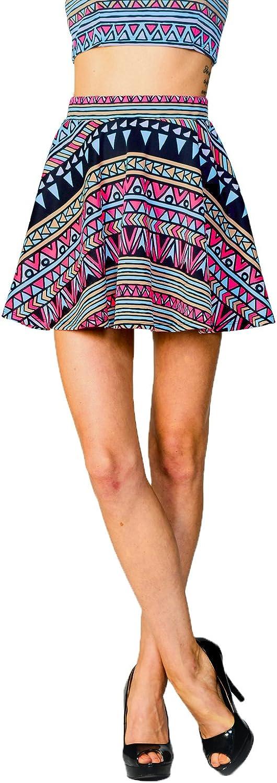 JC Womens Versatile Mini Above Knee Flare Pleated Skater Skirt Made in USA