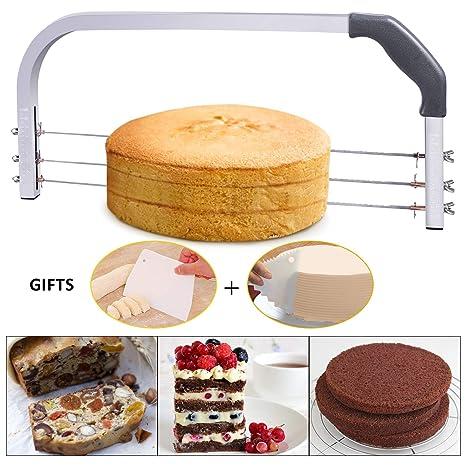 Amazon.com: Bonviee - Cortador de tartas ajustable con 3 ...