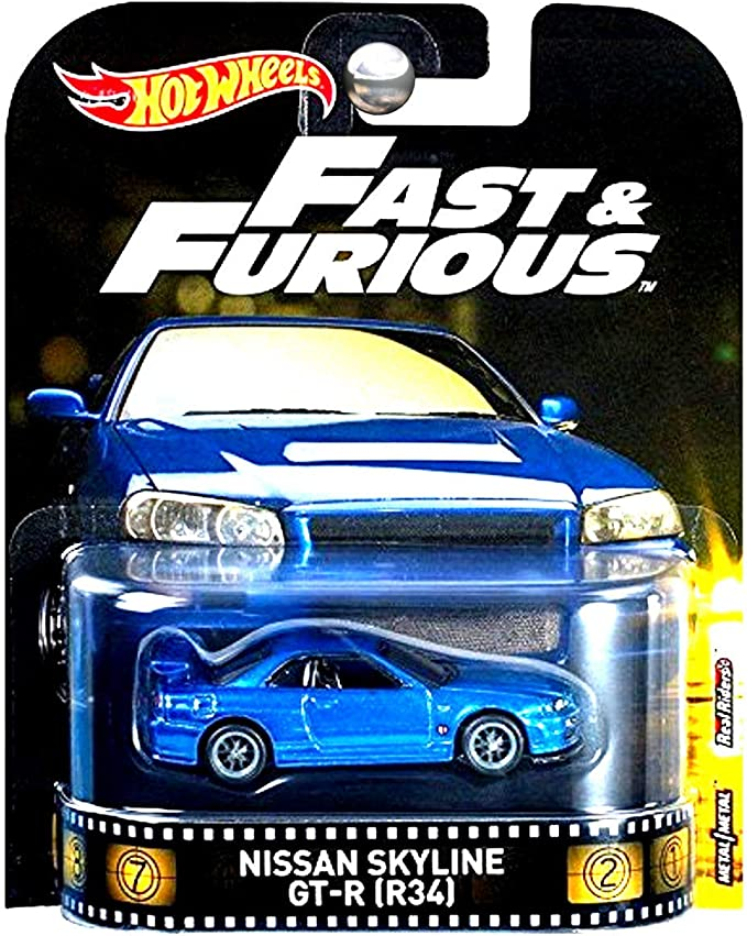 amazon com hot wheels retro entertainment fast furious real riders limited edition nissan skyline gt r r34 toys games hot wheels retro entertainment fast furious real riders limited edition nissan skyline gt r r34