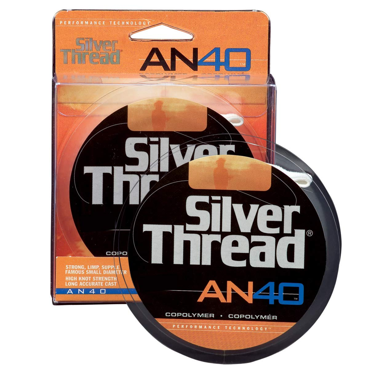 Pradco Silver Thread AN40 Filler Spool Fishing Line-300 Yards Green, 10-Pound Test