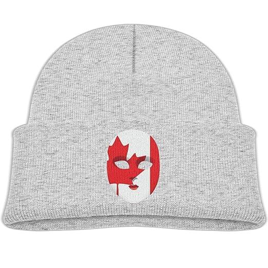 Amazon.com  Beanie Caps Knit Hats Canadian Mask Maple Leaf Fleece ... ecde1f96c