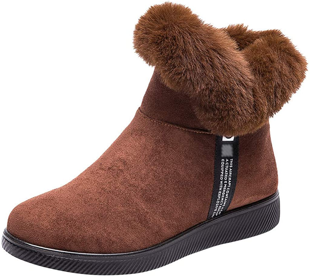 GIRLS FAUX LEATHER FUR LINED COWBOY STYLE WINTER ANKLE BOOTS BROWN SIZE 12-5