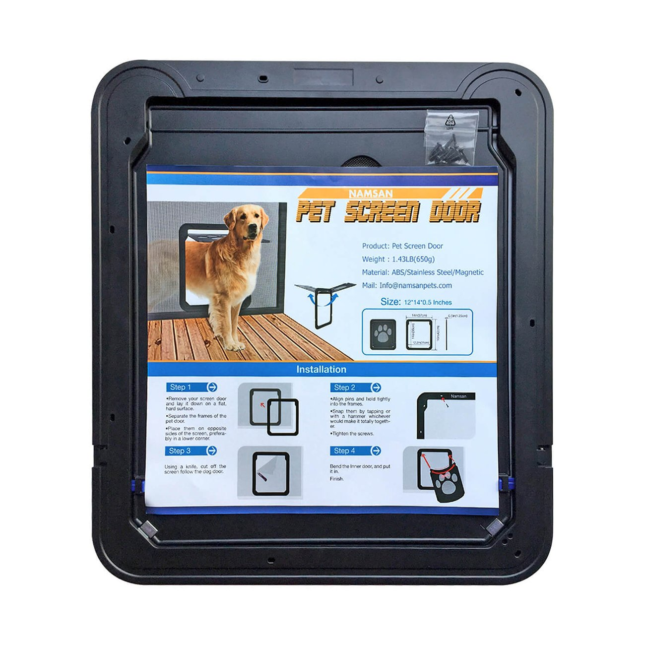 Amazon Uheng Magnetic Automatic Locklockable Pet Screen Door