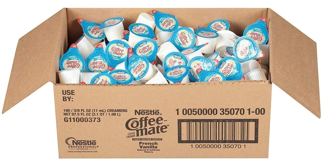 Coffee Mate Coffee Creamer, French Vanilla, liquid creamer singles, Pack of 180