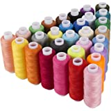 Sewing Thread Assortment Coil 30 Colors 250 Yards Each Polyester Thread Sewing Kit All Purpose Polyster Thread for Hand and Machine Sewing by iFergoo