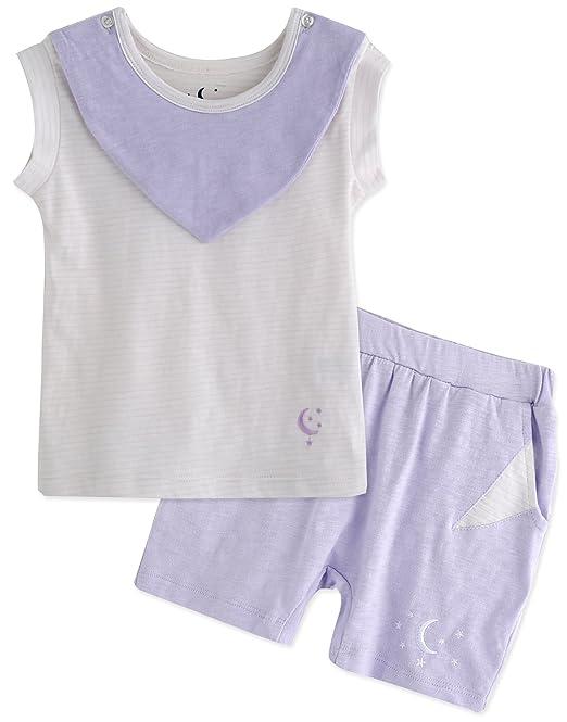 Vaenait baby Pijama dos piezas - para niño Morado Purple Stripe Large/4 años-