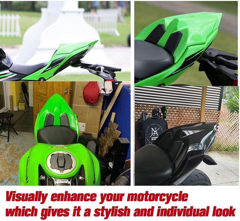 Light green Lorababer NINJA 650 Z650 17 18 19 20 Accessories Rear Seat Cowl Fairing Cover Cowl ABS Plastic Green Black White for Kawasaki NINJA650 Z 650 2017 2018 2019 2020