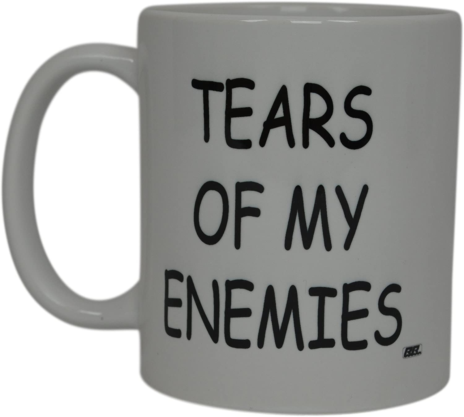 Best Funny Coffee Mug Tears Of My Enemies Novelty Cup Joke Great Gag Gift Idea For Men Women Office Work Adult Humor Employee Boss Coworkers (Tears of My Enemies)