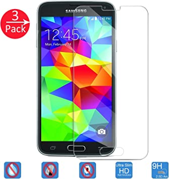 HOHONG® 3-Pack Samsung Galaxy S5 Cristal Protector de Pantalla ...