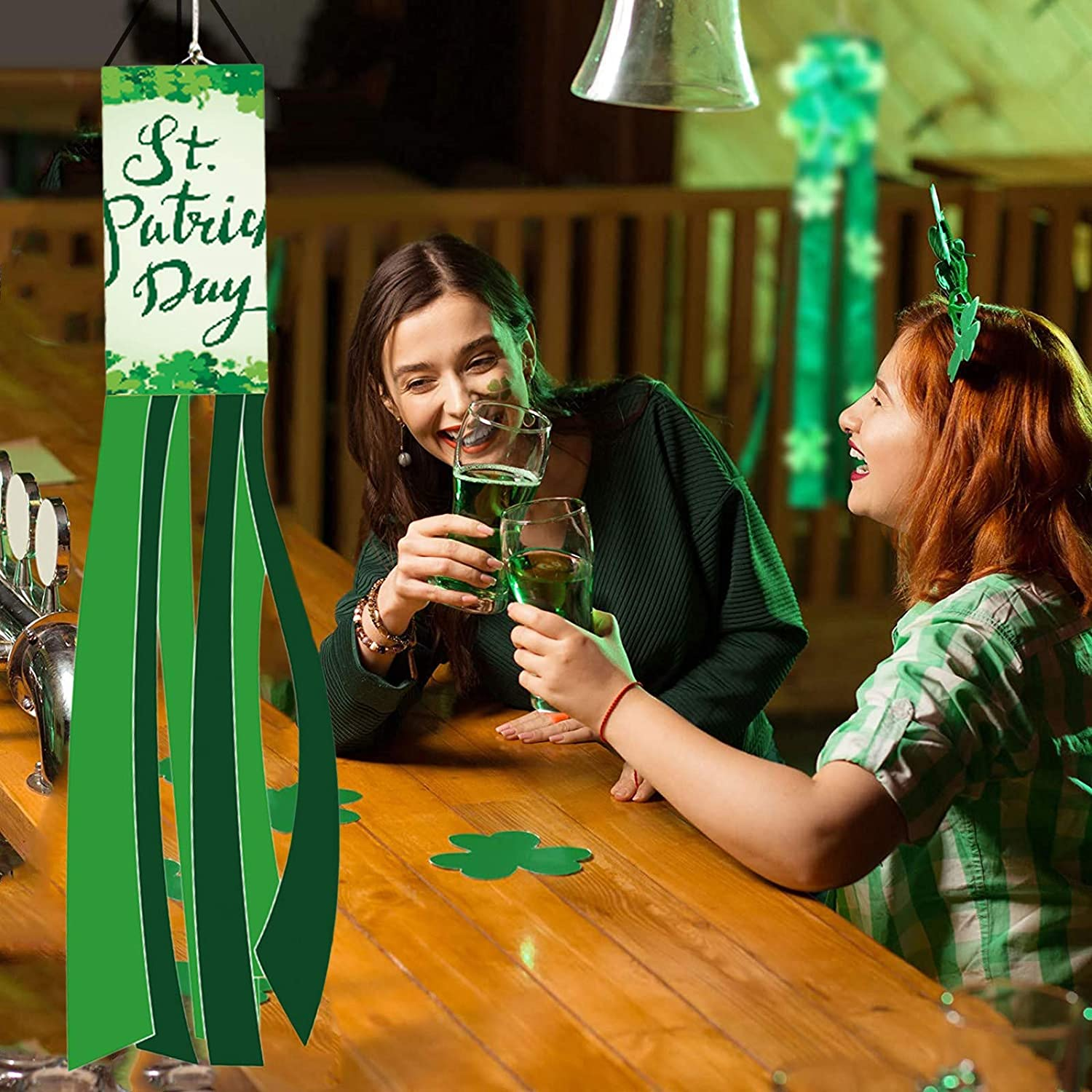 Patricks Day Windsock Polyester Garden Windsock Lawn Garden Party Deco AC1 St