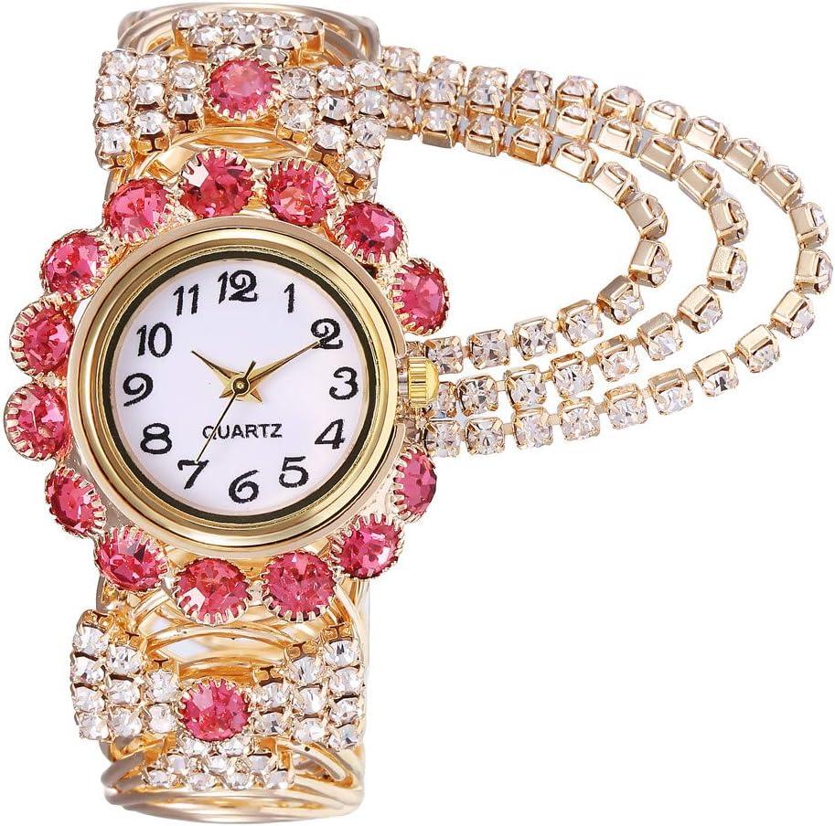 Lomsarsh El Reloj de la Mujer, el Reloj de la Manera de la aleación de la Cadena cristalina de la Piedra Preciosa de Las Mujeres mira los Modelos creativos del Reloj de la Pulsera del Cuarzo