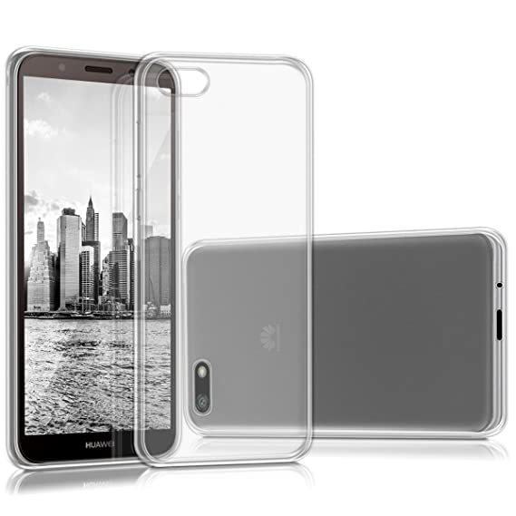 kwmobile Crystal Case for Huawei Y5 / Y5 Prime (2018) - Soft Flexible TPU  Silicone Protective Cover - Transparent