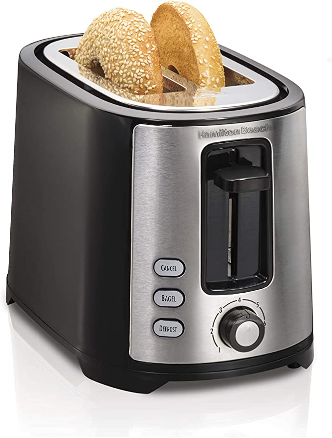 Amazon.com: Hamilton Beach 2 Slice Extra Wide Slot Toaster with Shade Selector, Toast Boost, Auto Shutoff, Black (22633): Kitchen & Dining