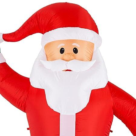 cca580cdae354 oneConcept Mr. Klaus Decoración navideña Papá Noel Navidad Hinchable  (Altura 240 cm